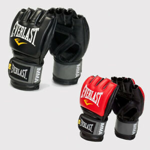 Everlast Gloves Pro Style Grappling Shingarts Combat MMA size S M L XL black red