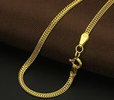 Pure Solid 18k Yellow Gold Necklace/ Men&Women Curb Link Chain Necklace/3.8-4g