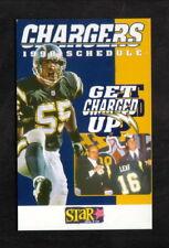 Junior Seau--1998 San Diego Chargers Pocket Schedule--Star FM