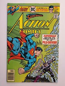 ACTION COMICS #464 (VG/F) 1976 PILE-DRIVER, SUPERMAN COVER & APP