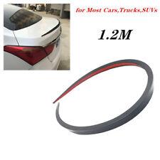 1.2M Black Soft Car Rear Roof Trunk Spoiler Rear Wing Lip Trim Sticker Flexible