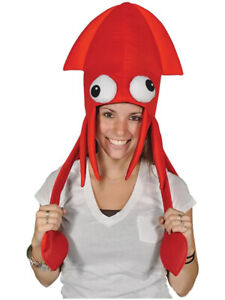 Novelty Red Squid Octopus Hat Costume Party Hat Cap