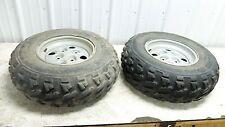 04 Arctic Cat 650 V-2 4x4 FIS atv front wheels rims and tires right left