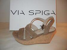 Womens Shoes -Via Spiga - V-Kendall, Rattan SU Platform Sandal - Size 8.5M - NWB