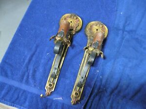 vintage art deco pair of long cast sconces