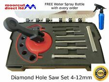 Diamond Hole Saw Set Tile Drilling 4-12mm for Porcelain, Marble, Granite, Glass