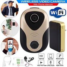 Sonnette sans fil audio vidéo caméra WIFI Interphone de porte à distance de sécurité Bell UK