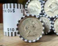 Bank Sealed Half Dollar Coin Roll w/ 90% Silver Franklin or Kennedy End Coin