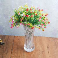 Artificial Milan Flowers Imitation Plants Plastic Home Garden Floral Decor Gift