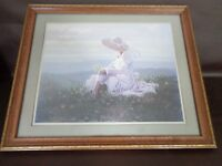 """B.R.Greene Framed Print of """"Girl in Field of Flowers"""""""