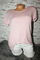 Italy T-Shirt Vintage Gr. 36 38 40 42 Shirt Oversized Puder rosa blogger weich