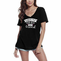 ULTRABASIC Femme T-shirt Always Put Your Best Face Forward - Tee shirt drôle
