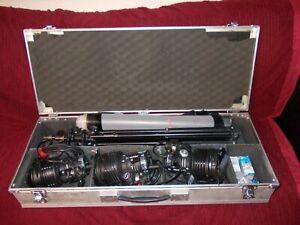 Sachtler Reporter 300H Kompakt-Set , 3x licht 3x stativ und koffer viel zubehör