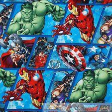 BonEful Fabric FQ Cotton Quilt Allover Super Hero Hulk Marvel Captain America Lg