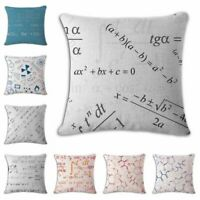 Fashion Equation Cotton Linen Throw Pillow Case Cushion Cover Home Sofa Decor