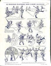 Caricatures Guerre Soldiers Deutsches Heer Pickelhaube Manoeuvres War 1915 WWI