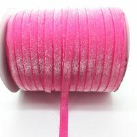 "New 5yards 3/8"" Colorful Glitter Velvet Ribbon Headband Clips Bow Decoration #12"