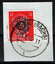 Löbau 10 Briefstück, 12 Pf. Hitler mit Aufdruck