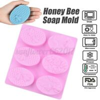 Honey Bee Soap Mold DIY Cake Chocolate Candy Sugar Cookie Ice Mold Bakin
