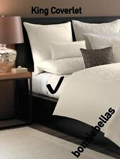 $570 Hotel Collection Finest Mezzanine KING Ivory Metallic Quilted Coverlet New