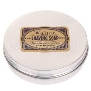 1pc Round Shaving Soap Goat's Milk Men's Shave Tools  Foaming Lather Dia 83mm