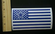 "Lot of 3 Dallas Cowboys Nation Flag Nfl Decals Bumper stickers 3"" x 5"""