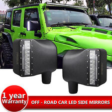 07-16 Jeep Wrangler JK Side Mirrors LED Spot Light DRL Amber Turn Signal , USA