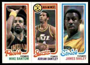 1980-81 TOPPS MINI JAMES BAILEY 227 ADRIAN DANTLEY 6 MIKE BANTOM 115