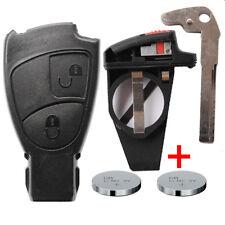 Schlüssel Gehäuse MERCEDES BENZ SET Rohling Fernbedienung Smartkey 2 + Batterie