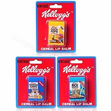 Kelloggs Cereal Box Lip Balm Stick Flavoured Novelty Retro Party Bag Filler Gift