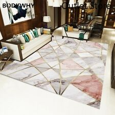 Nordic Carpets Sofa Rug Carpet Bedroom Decorative  Floor Mat Marble Line Rugs