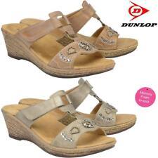 Ladies Memory Foam Wedge Heel Walking Flip Flops Summer Strappy Sandals Shoes