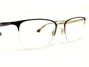 Ray Ban RB6433 3001 Women's Tortoise Modern Half Rim Eyeglasses Frames 53/19~145