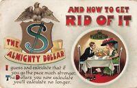 Postcard The Almighty Dollar