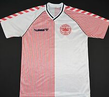 1986-1988 DENMARK HUMMEL AWAY FOOTBALL SHIRT (SIZE S)