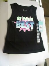 Sketchers Active Girls Be Your Best Black Tank Top Shirts