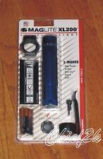 Maglite XL200 TAC PACK 5-Mode LED Flashlight Adjustable Torch Mag BLUE