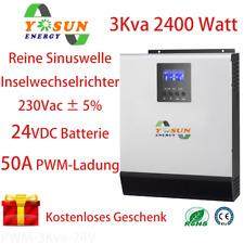 3 Kva Hybrid Solar Wechselrichter Off Grid System 50A PWM Ladung Wechselrichter