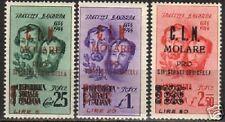 Italy Local Molare 1944 RARE overprint set of 3 MLH VF
