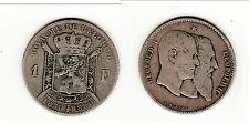 Belgique 1 Franc en argent 1880 Leopold Ier et IIBelgique