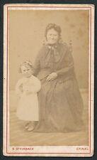 CDV c. 1870 - Femme et Fillette à Epinal - T732