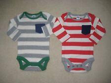 NEW 2x EX Baby Boden MONO Jersey Breton stripe top