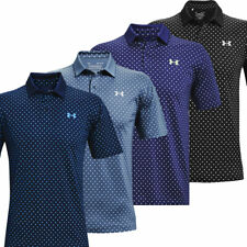 Under Armour Mens UA Performance Printed Stretch Golf Polo Shirt / NEW 2021