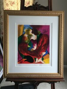 """Linda Le Kinff Signed/Numbered Serigraph BEAUTIFUL Untitled 25x28"""""""