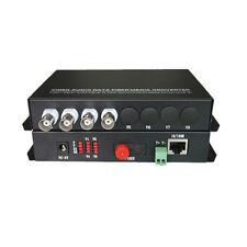 4 Video 100Mbps Ethernet Rs485 Data over Fiber Optic Media Converters