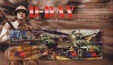 La Segunda Guerra Mundial Día D M4 Hoja De Sello De Tanque Sherman (LST de aterrizaje de la nave batallón/70 741 743)