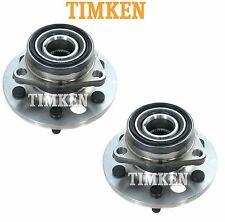 For Chevrolet GMC K-Series 4WD Pair Set of Front Wheel Bearings & Hubs Timken