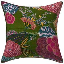 Ethnic Cotton Couch Throw Pillow Covers  Kantha Printed Tropicana Cushion Cover