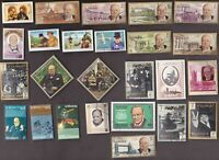 25 All Different  WINSTON CHURCHILL on Stamps