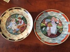 """2 Villeroy & Boch.""""Once Upon A Rhyme"""" Collectors Plates By Renee Faure"""